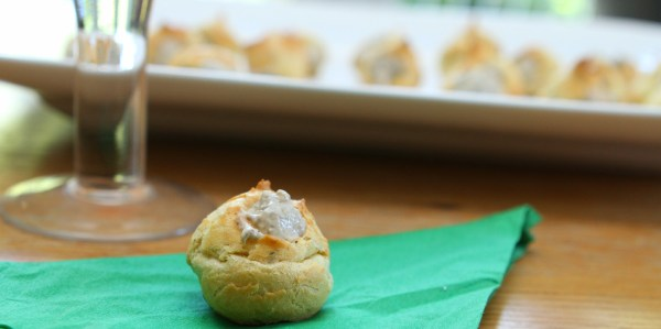 Thyme & Black Pepper Profiteroles Filled With A Mushroom Mousse (GBBO #week 9)