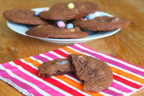 Chocolate Mini Egg Cookies