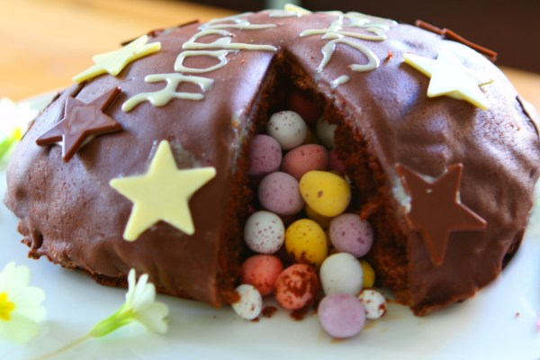 Chocolate Easter Egg Pinata Cake