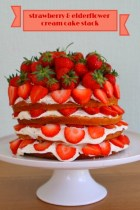 Strawberry & Elderflower Cream Cake Stack