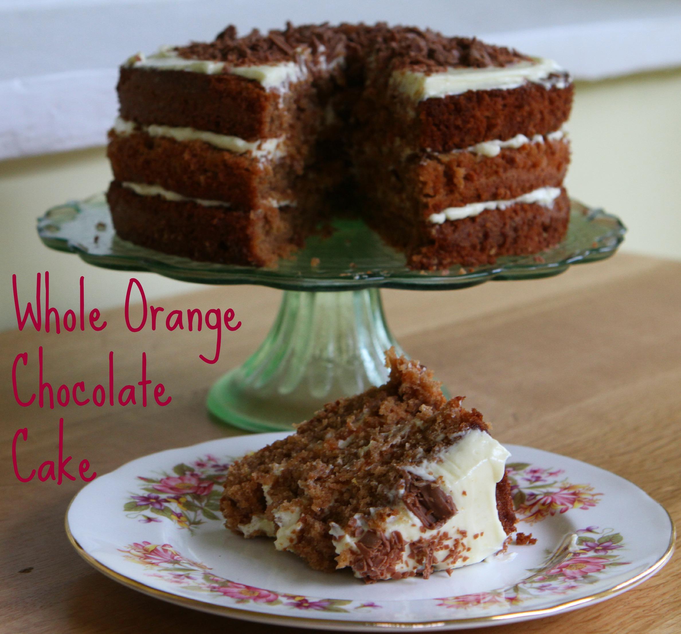 Whole Orange Chocolate Cake (GBBO)