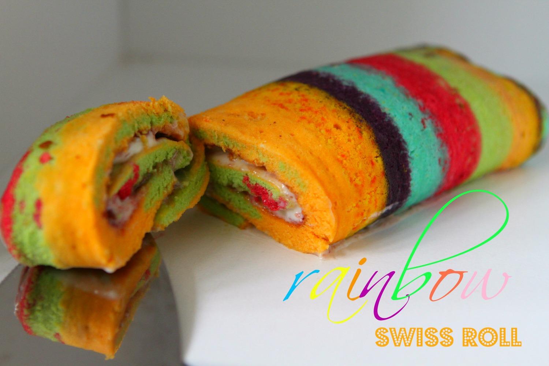 Rainbow Swiss Roll Greatbloggersbakeoff 1 Cake