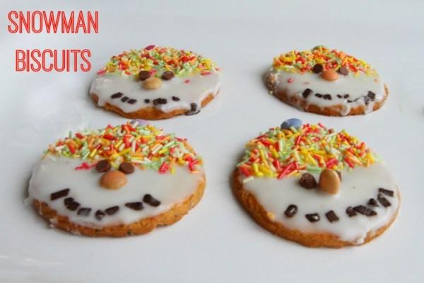Snowman Biscuits