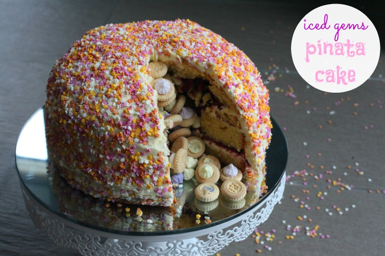 Bake Escape Iced Gems Pinata Cake (Review + Give Away)
