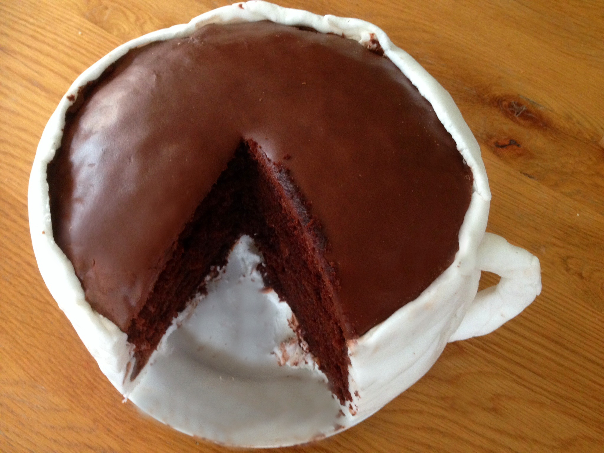 Salted Caramel Hot Chocolate 'Cup' Cake (with Gü) - mummy mishaps