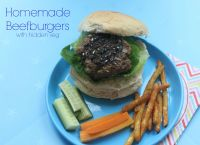 Homemade Beefburgers with hidden veg