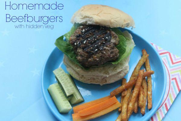 Homemade Beefburgers with hidden veg