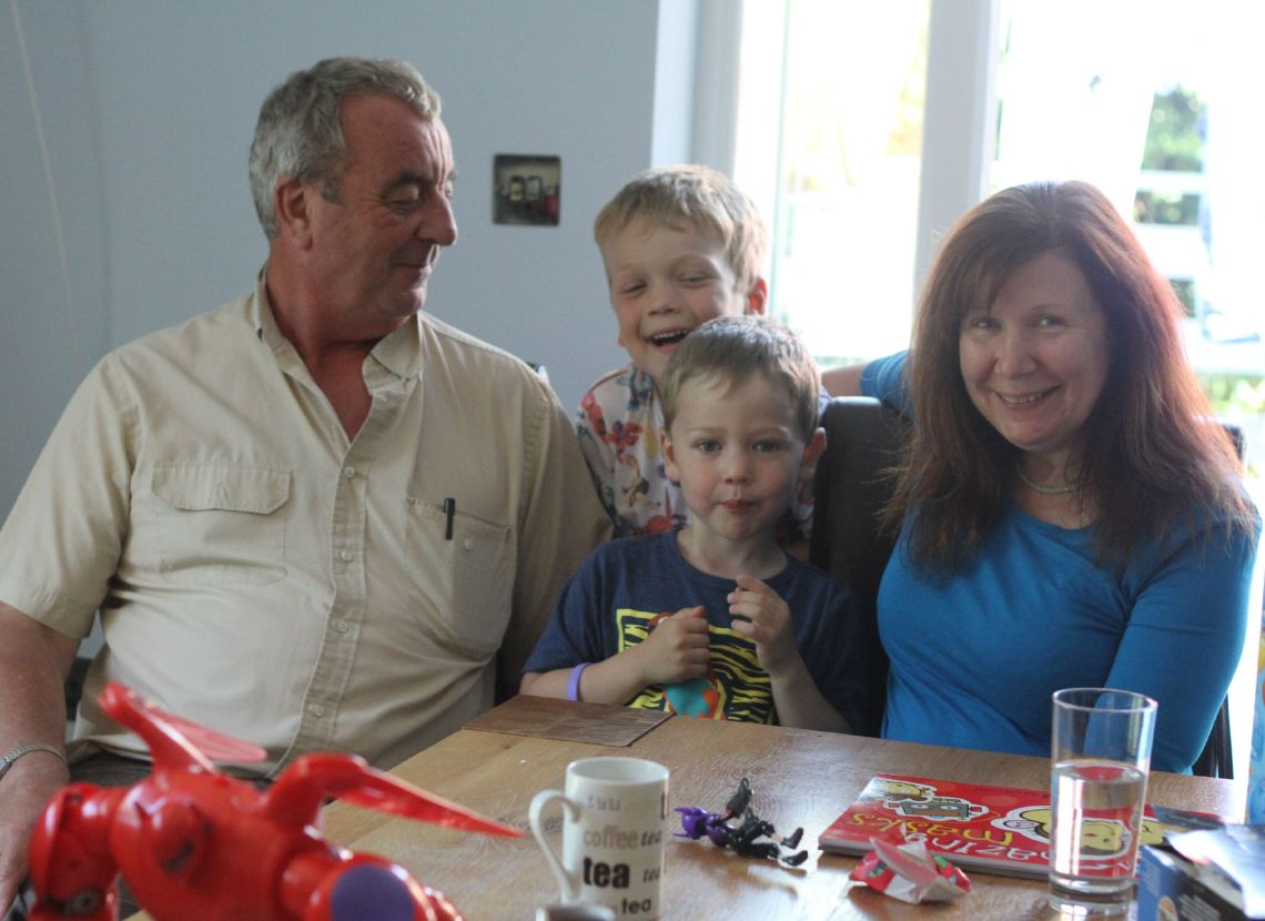 mum and mike and boys burtons 6th birthday