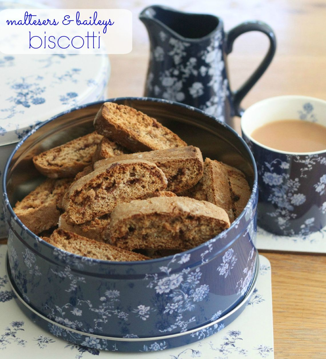 maltesers and baileys biscotti