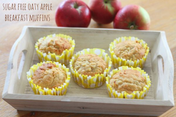 Sugar Free Oaty Apple Breakfast Muffins