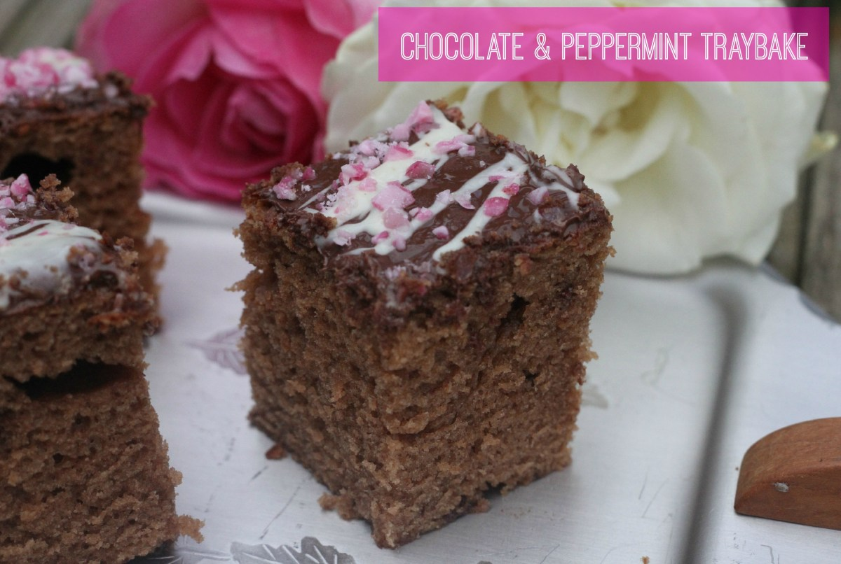 chocolate and peppermint traybake