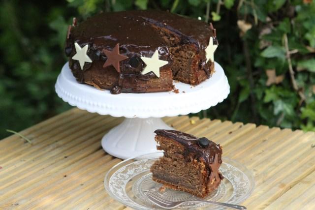Chocolate, Banana and Liquorice Cake