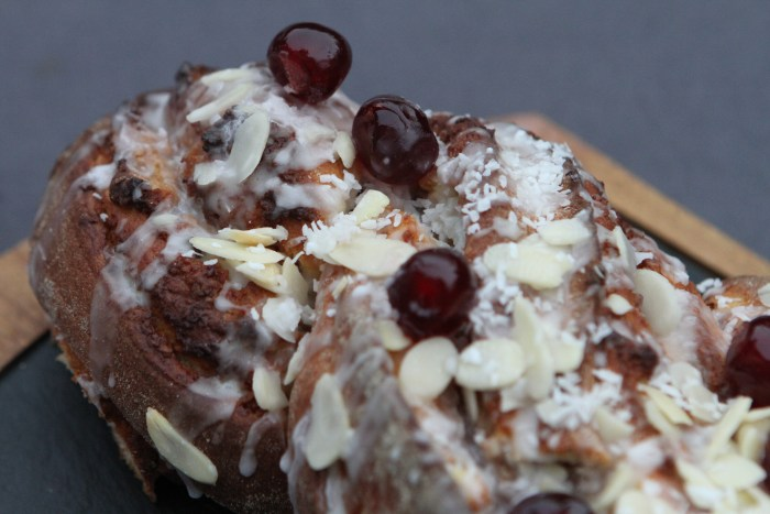 Cherry and Chocolate Bakewell Nusszopf Twisted Loaf