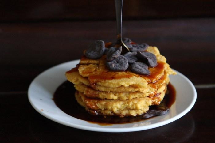Gluten Free, Dairy Free Polenta Pancakes
