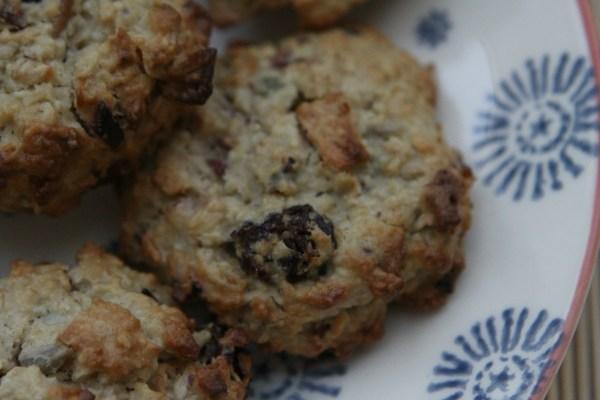 Gluten and Sugar Free Bircher Muesli Cookies