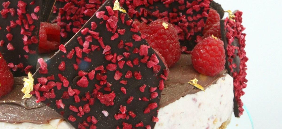Triple Chocolate Raspberry Cheesecake