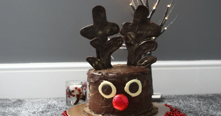 Rudolph's Red Nose Chocolate Cake