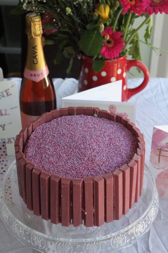 Pink Kit Kat Celebration Cake