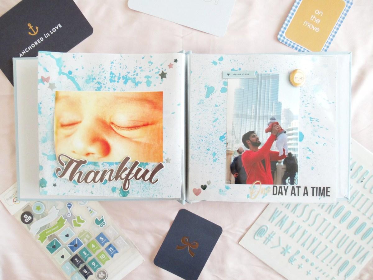 How I create a Newborn Keep-sake Photo Album | Photo Tutorial | Pretty Paper Studio
