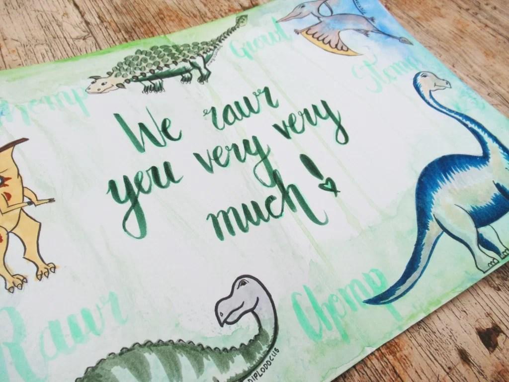 dinosaur birthday card mummyonmymind