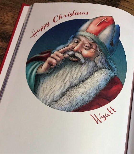 personalised christmas book