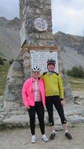 Pre-children. Cycling in the Alps with my husband