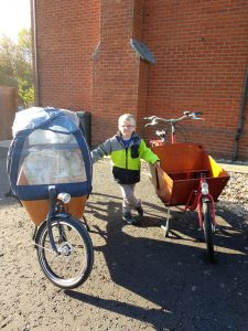 old and new cargo bikes
