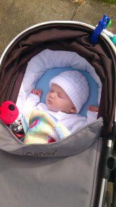 baby in the pram