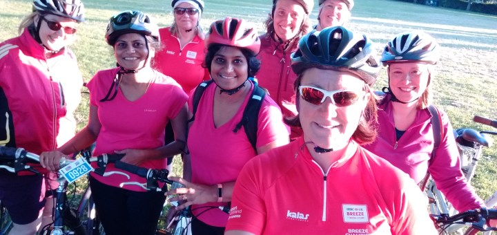 group of women on bikes