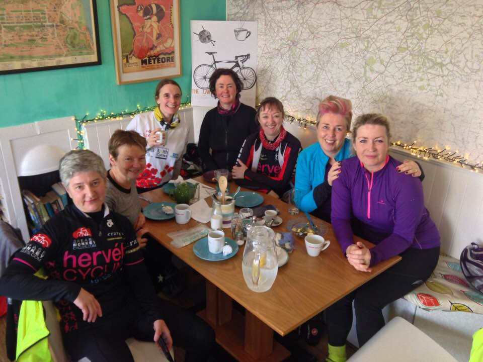 Hervelo cycle club cafe stop