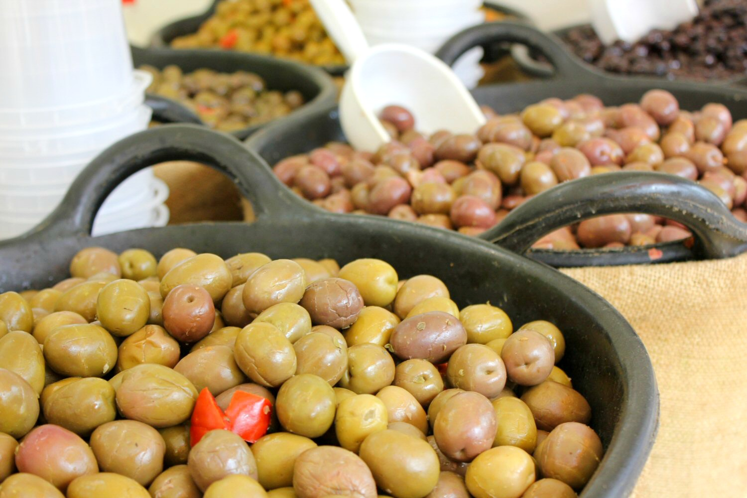 Olives at a market. My photo tour of Costa Barcelona