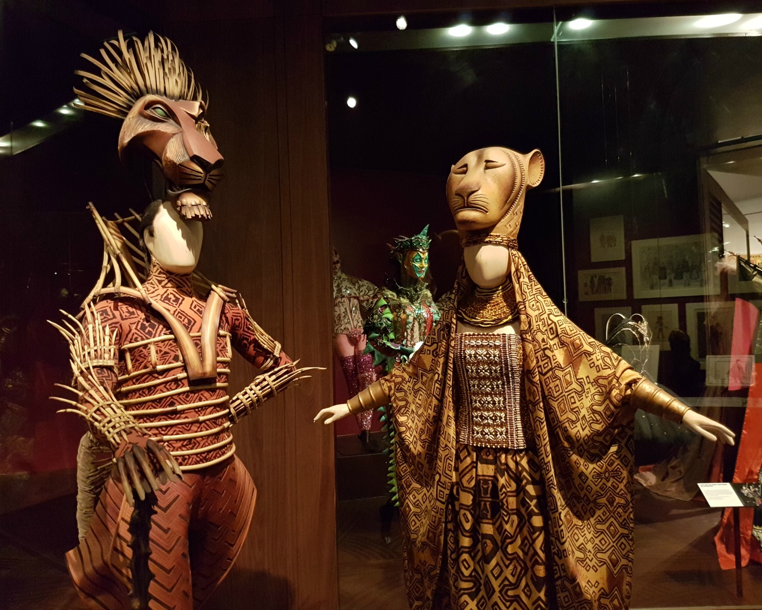 Costumes from The Lion King in the V&A theatre collection - my review of our visit, and why the Victoria and Albert museum with kids is a great idea