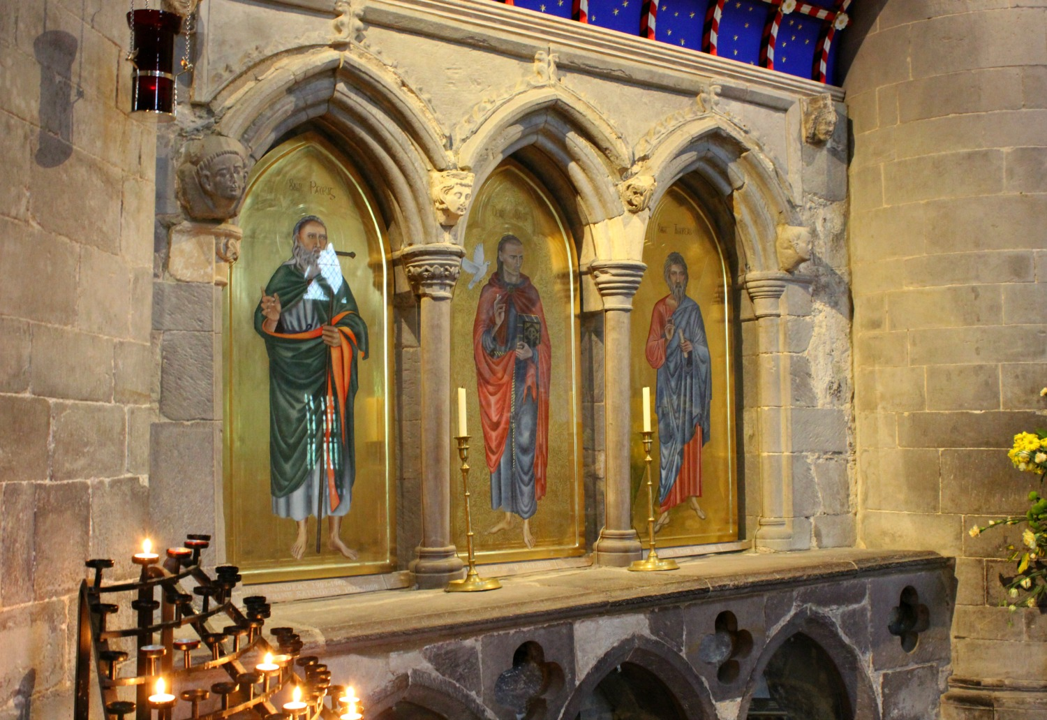 The shrine to St David in the cathedral at St Davids, Wales - on our journey to discover Welsh legends
