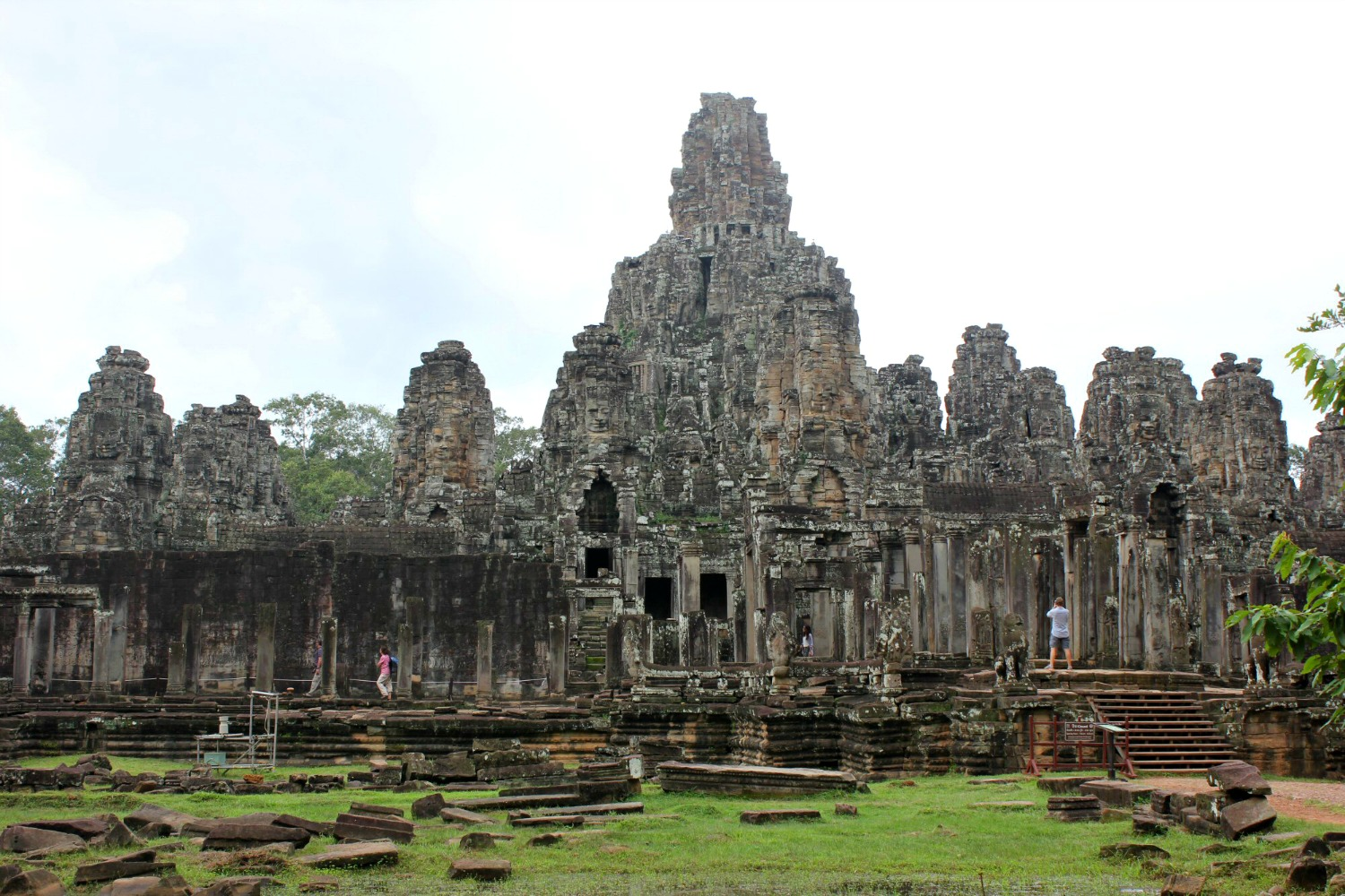 The exterior of Bayon temple in Siem Reap - 12 reasons to visit Cambodia with kids