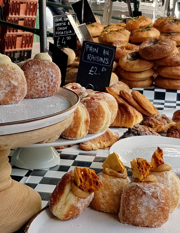 Bread, doughnuts and pastries at Borough Market - my London Instawalk along the South Bank