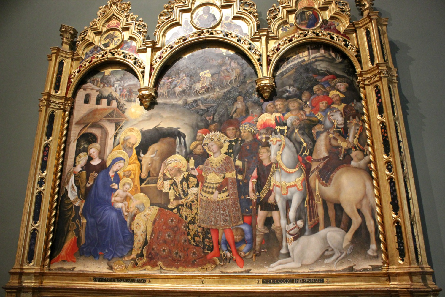 15th century artwork at the Uffizi gallery in Florence, Italy - my Uffizi tour with kids and gelato making day in Florence