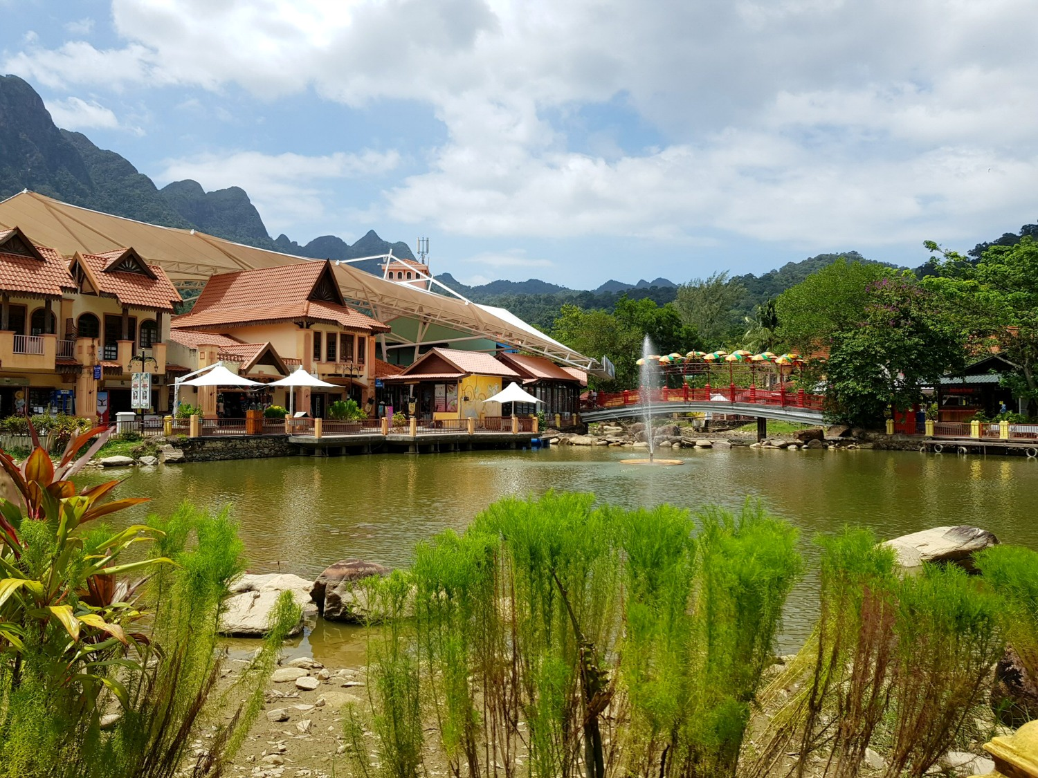 Oriental Village in Langkawi, with its shops, restaurants and attractions set around a lake, including Langkawi Art in Paradise 3D museum