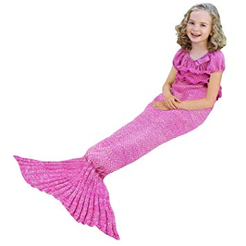 Gifts for Girls, Mermaid Tail Blanket for Kids,Mermaid blanket, Crochet Snuggle Mermaid, Handmade Crochet Mermaid Blanket,Best Birthday gift persent for Kids