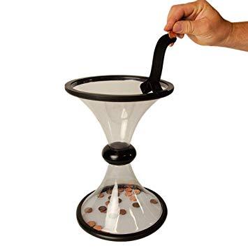 Coin Vortex Funnel,Coin Vortex for Saving Loose Coins,Creative Money Saving Box Decompression Toys for Kids and Adults