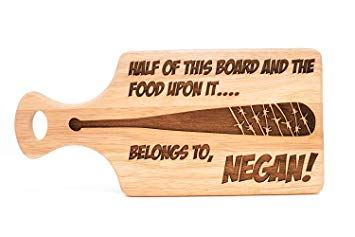 The Walking Dead Inspired Negan Wooden Chopping, Cutting, Serving Board