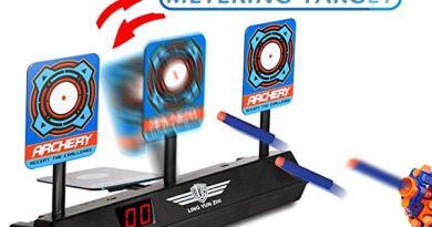 Electronic Scoring Target for Nerf N-Strike Elite/Mega/Rival Series Kids Toy Auto-Reset Intelligent Light Sound Effect Scoring Target for Mega and Rival Series