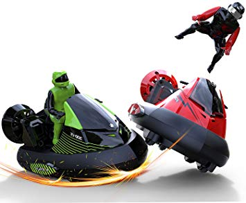 """RC Bumper Cars Battle """"Bump and Eject"""" Remote Control Stunt Vehicles Set of 2"""