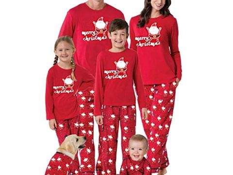 Christmas Pajamas Set Mum Dad Little Team Elf/Elf in Training Festive Xmas Pyjamas