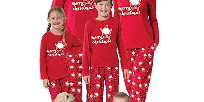 Christmas Pajamas Set Mum Dad Little Team Elf/Elf in Training Festive Xmas Pyjamas