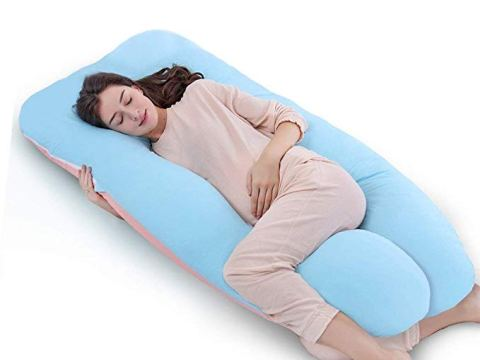 Full Body Pregnancy Pillow & Maternity Pillow with Replaceable and Washable Cover