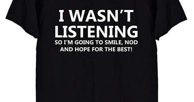 I Wasn't Listening Funny Men's T-Shirt, in Black or White