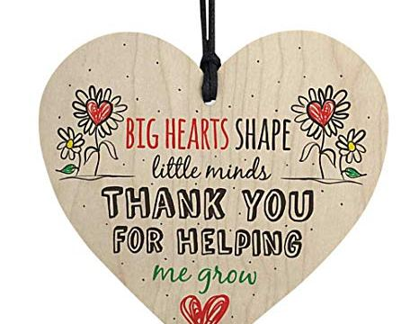 "Wooden Wall Hanging Plaque""Think You for Helping""Pendant Plate"