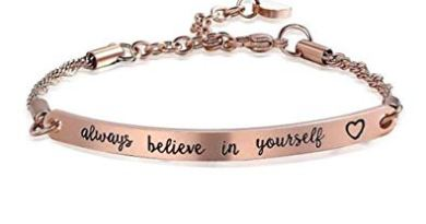 Inspirational Bracelet Engraved Always Believe in Yourself Women Men Rose Gold Bracelets Jewelry Gift