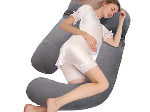 Full Body Maternity Pillow 59 Inch & U Shaped Pregnancy Pillow
