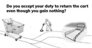 If You Don't Return The Shopping Cart